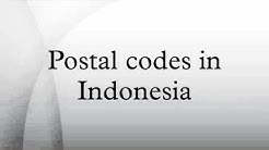 Postal codes in Indonesia