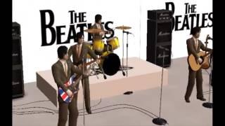 3D ANIMATION BEATLES -  SHEA STADIUM 1965 - I FEEL FINE