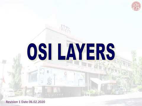OSI Model Basics (IRISET)