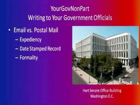 Writing to Your Government Officials