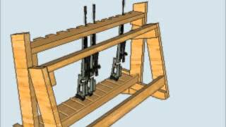 Wood Gun Rack
