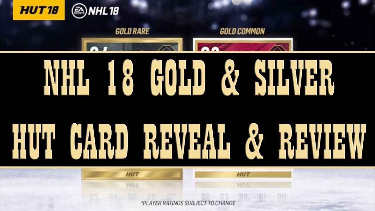 Nhl 18 New Hut Gold Cards Reveal Review Youtube