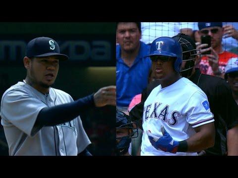 SEA@TEX: Beltre, Hernandez exchange playful banter