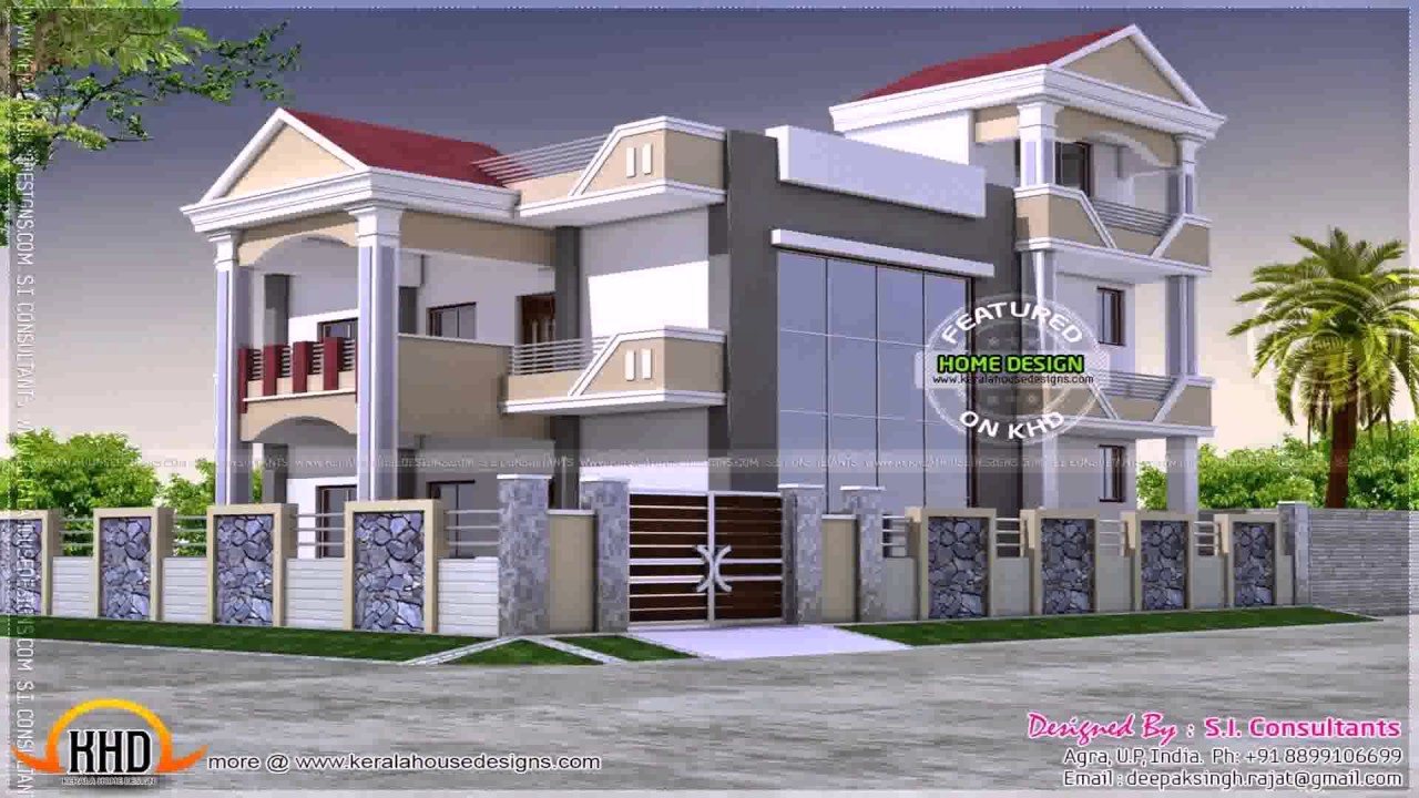 Duplex Home Design Plans 3d - YouTube