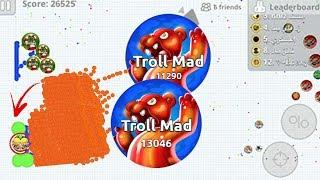 اقاريو مقلب سكور الزاوية بحركة جديدة 😂💔 تدبيل 134k الف سكور 😱🔥 Agar.io Mobile Trolling  High Score