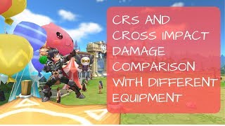 CRS and CI Damage comparison Using different Armor, Garment, and Weapon