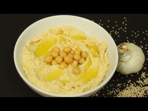 Hummus zubereiten /orientalisches Kichererbsenpüree