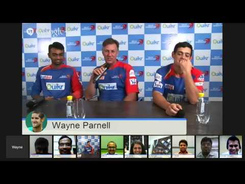 Quikr Hangout On Air With Delhi Daredevils