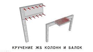 кручение железобетонных балок и колонн