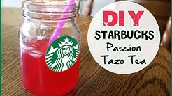 DIY Starbucks Passion Tazo Tea