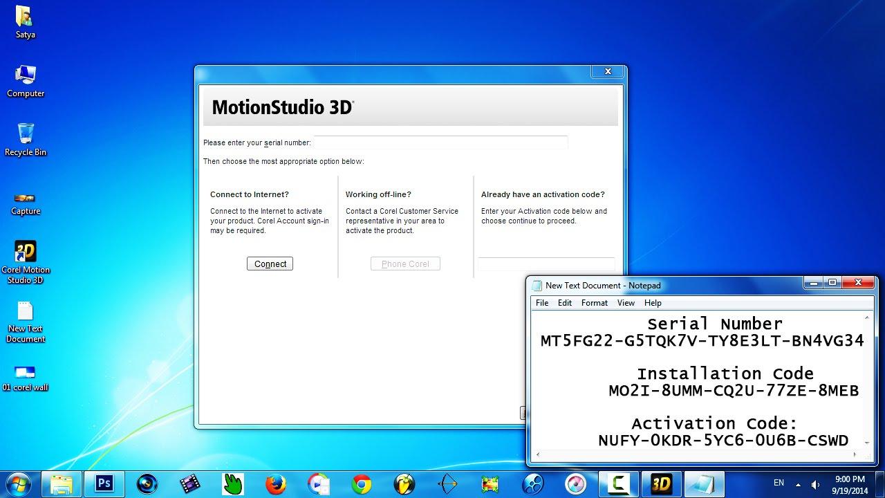 corel motion studio 3d activation code free download