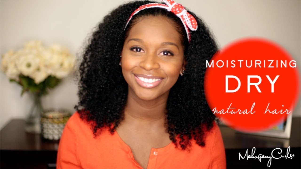 Moisturizing Dry Natural Hair YouTube