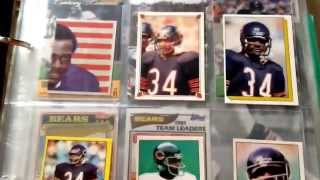 My updated 1985 Chicago Bears card collection