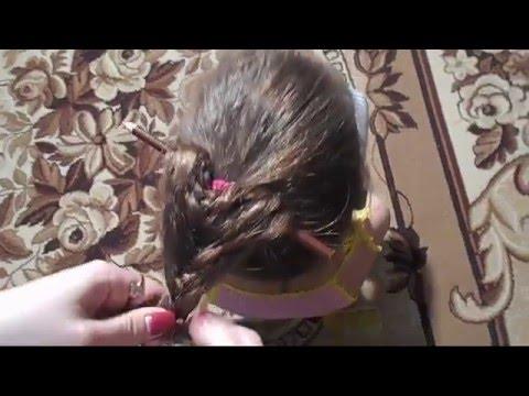 Красивая прическа Коса с помощью карандаша для средних и длинных волос♥