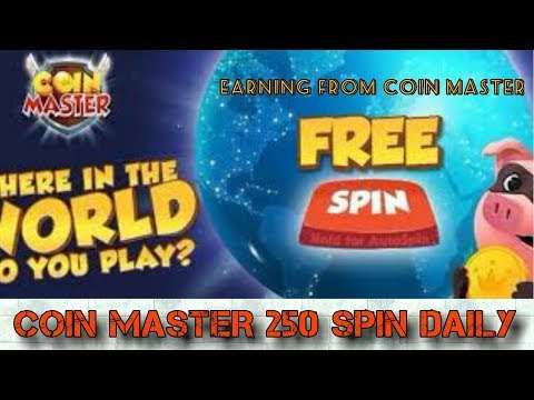 Coin master 250 spin daily free | Not any hack included | earning from coin master