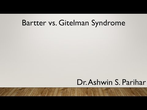 Bartter vs Gitelman syndrome