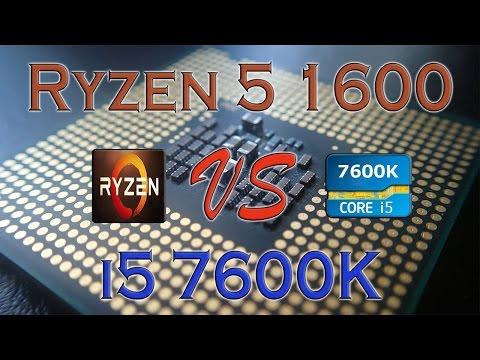 RYZEN 5 1600 Vs I5 7600K - BENCHMARKS / GAMING TESTS REVIEW AND COMPARISON / Ryzen Vs Skylake