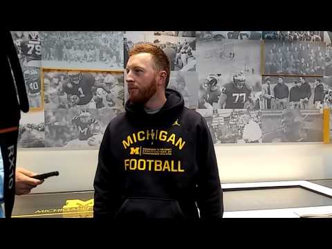 Michigan's Jay Harbaugh on tight ends, mechanics of special teams