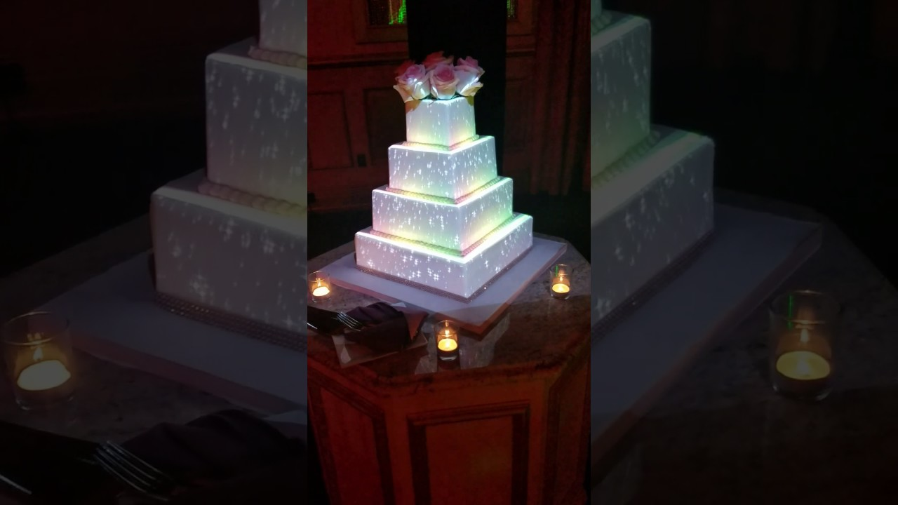 wedding cake projection projection mapped wedding cake live waterfall 23573