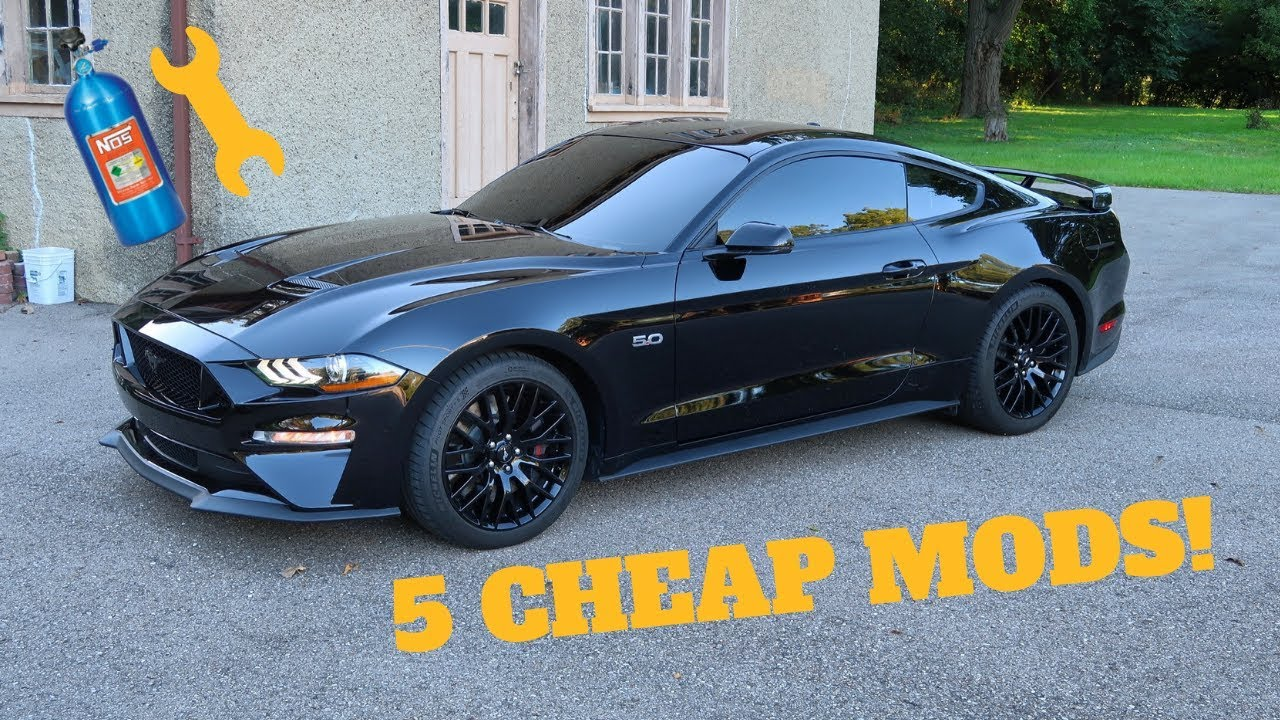 5 cheap modifications to make your 2018 2019 ford mustang gt fast