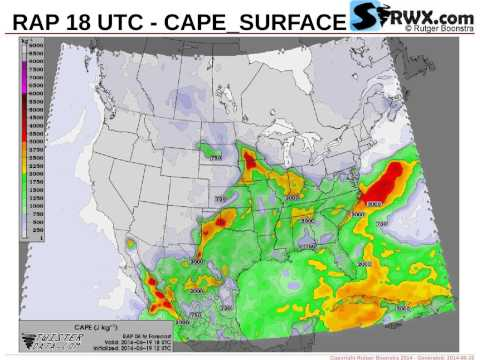 Severe Weather Maps for June 19, 2014 (Thu) - SPC Risk: SLGT