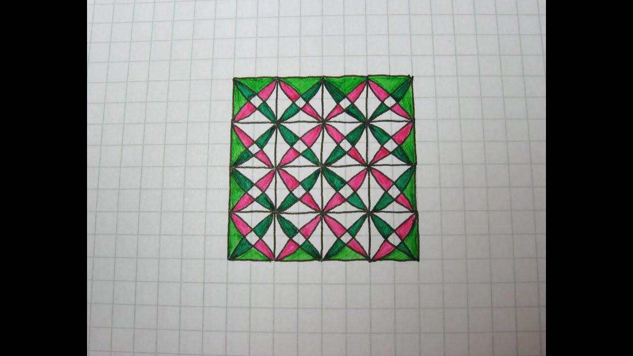 geometric designs on graph paper