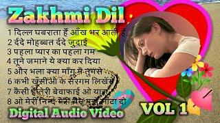 Zakhmi Dil 💝( र्दद भरे गीत ) Digital Jhankar VOL 1 - Kumar Sanu & Anuradha Paudwal & Kaveeta krishn