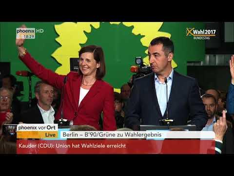 Bundestagswahl 2017: Statement von Katrin Göring-Eckardt zu vorläufigen Ergebnissen am 24.09.2017
