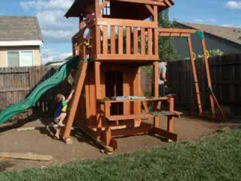 backyard discovery montpelier cedar wooden swing set 2