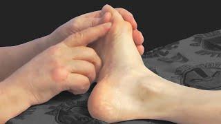 Косточка на ноге Массаж при вальгусной деформации большого пальца стопы Hallux Valgus