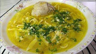 Суп с домашней лапшой и курочкой.