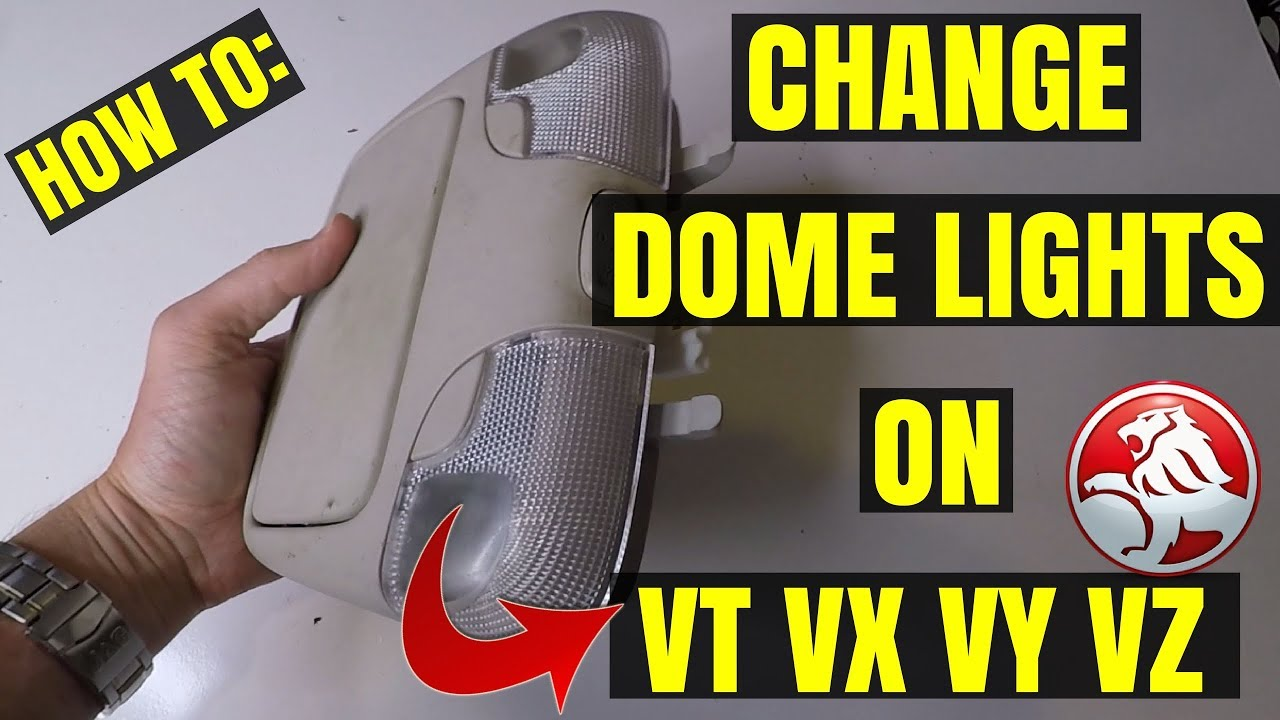 How to Change Interior Dome Lights on a VY VZ HOLDEN COMMODORE SUNGLASSES  CONSOLE HOLDER UNIT