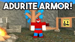 ADURITE ARMOR (NEW UPDATE!) | ROBLOX: Booga Booga