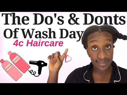 Natural Hair WASH DAY Routine  Do's & Dont's| Healthy Hair Results