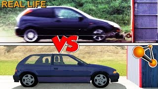 Real Life VS BeamNG drive #3 - Crash Tests & Damage Comparison