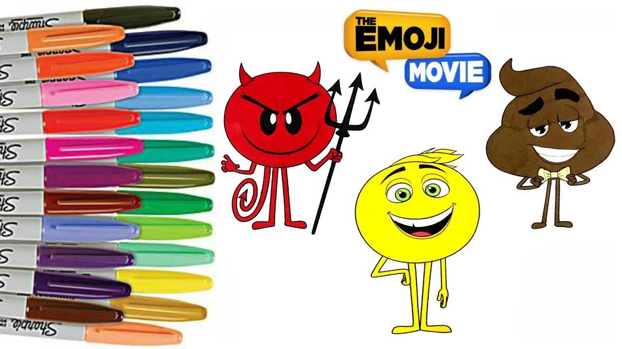 the emoji coloring book page gene devil coloring emojis