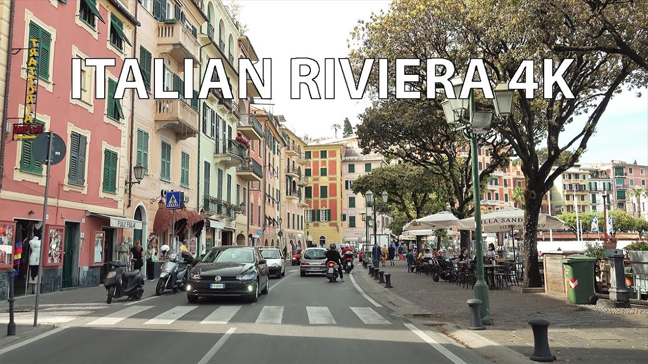 Italian Riviera 4K - Yachts & Seaside Resorts - Scenic Drive