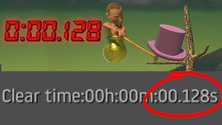 Getting Over It Any% Woŗld Record In 0:00:128