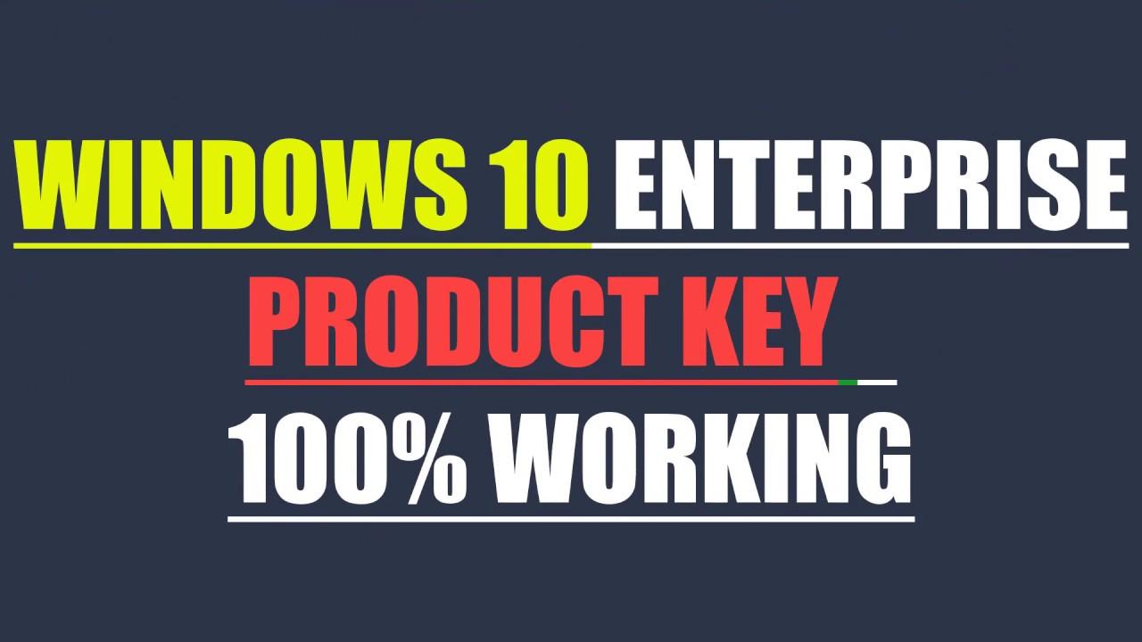 windows 10 enterprise x64 product key