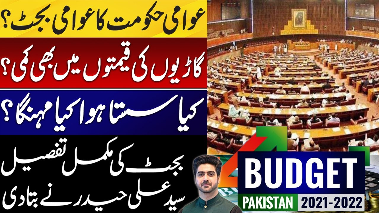 Complete Details about Budget 2021 by Syed Ali Haider