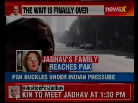Kulbhushan Jadhav's family at Pakistan Foreign office in Islamabad to meet him