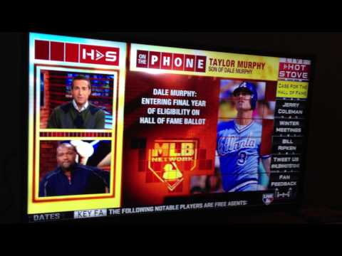 Taylor Murphy On Mlb Network talking about his Dad Dale Murphy and the Hall Of Fame.