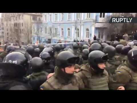 Трансляция с места задержания Михаила Саакашвили в Киеве