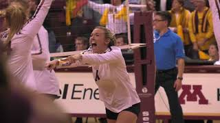 Gopher Volleyball 2017 Season Highlights (CMM Productions)