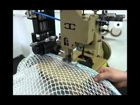 Fishing net sewing machine by can makina mdk51 ba youtube for Net making instructions