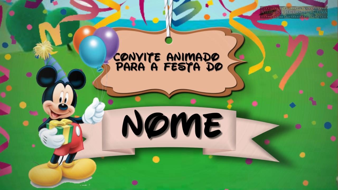 Convite Animado Casa do Mickey - YouTube b084cdd828884