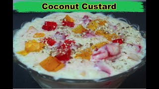 Coconut Custard   ناريل کسٹرڈ   Custard Recipe By COOK WITH FAIZA