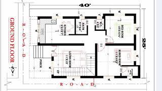 25x40 duplex house plan
