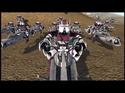 Clone Army's Recon Speeder Force - Men Of War: Star Wars Mod Tournament Game 13
