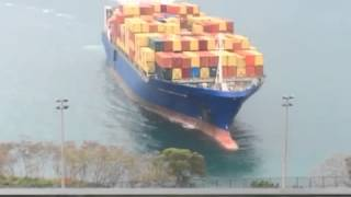 Container ship runs aground sandy bay hong kong